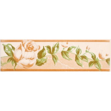 Walencja беж цветок фриз 20Х6