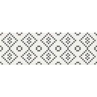 декор Opoczno Pret a Porter BLACK&white mosaic 25X75