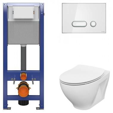 Комплект: Инсталляционная система Aqua 22 QF с чашей унитаза Moduo Cersanit