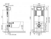 Комплект: Инсталляционная система Aqua 52 QF c овальной чашей унитаза Crea Cersanit