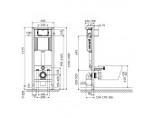 Инсталляционная система АКВА 22 QF для унитаза, без кнопки