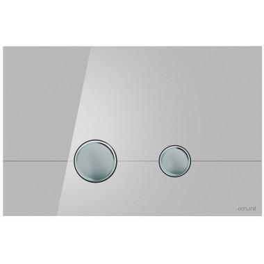 Кнопка для инст. сист. Cersanit Stero серое стекло, K97-370
