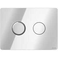 Кнопка Cersanit Accento круглая для инст. системы глянцевый хром, S97-056