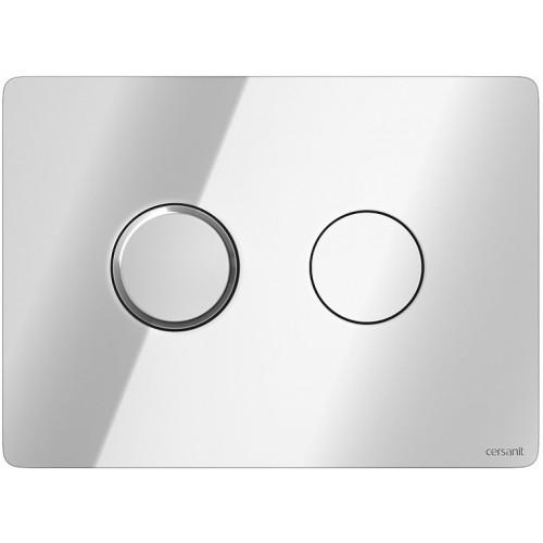 Кнопка Cersanit Accento круглая для инст. системы глянцевый хром, S97-057