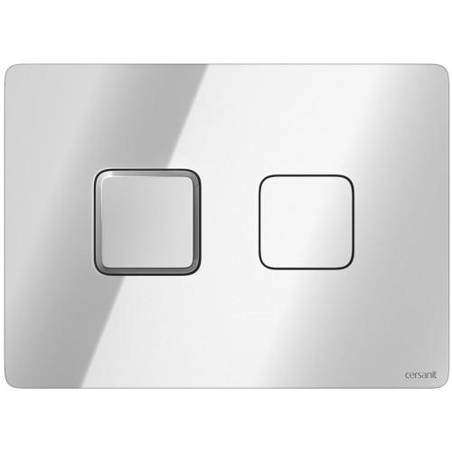 Кнопка Cersanit Accento квадратная для инст. системы глянцевый хром, S97-056