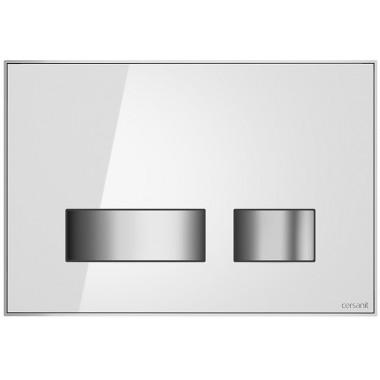 Кнопка Movi для инст. сист. Cersanit белое стекло, S97-012