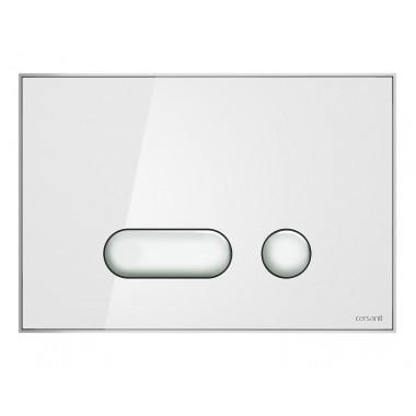 Кнопка Intera для инст. сист. Cersanit белое стекло, S97-022