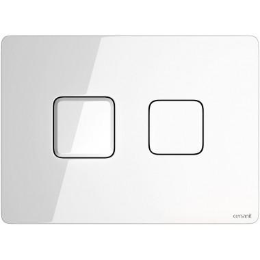 Кнопка Cersanit Accento Square для инст. системы белое стекло, S97-054