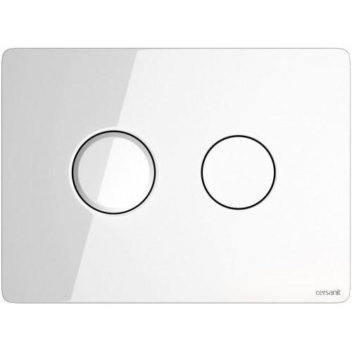 Кнопка Cersanit Accento для инст. системы белое стекло, S97-055