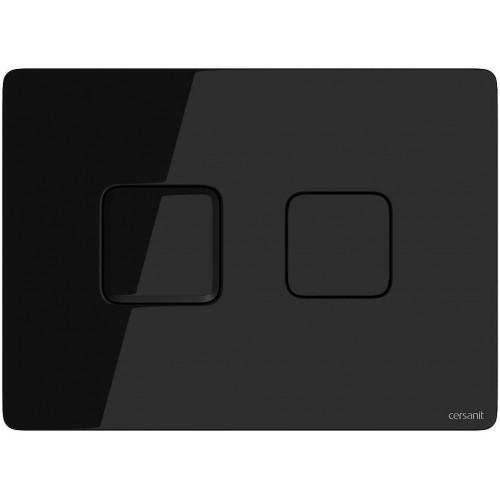 Кнопка Cersanit Accento Square для инст. системы черное стекло, S97-058