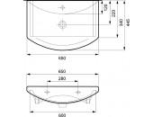 Комплект: тумба Cersanit Alpina + раковина Cersanit Omega 65 см S801-043-DSM