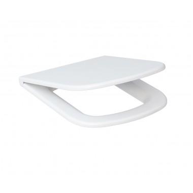 Сиденье для унитаза Cersanit Colour K98-0092 антибактериальное Duroplast, soft-close, белое