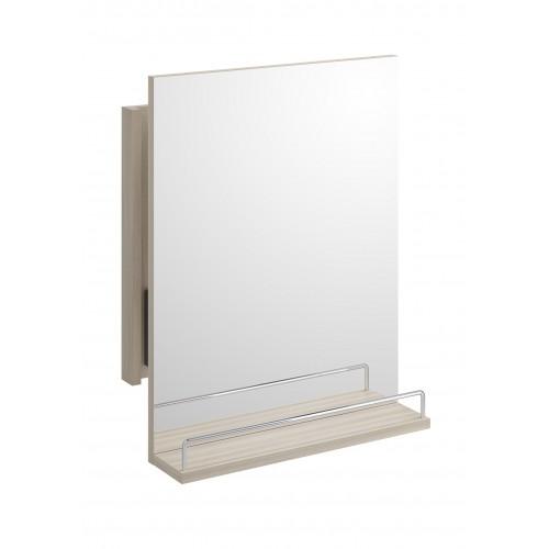 Smart Зеркало 50 с системой выдвижения и полочкой, светлый ясень