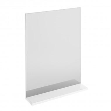 Зеркало Melar с белой полочкой