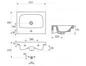 Мебельная раковина MODUO 60 K116-011