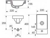 Мебельная раковина MODUO 40 K116-016