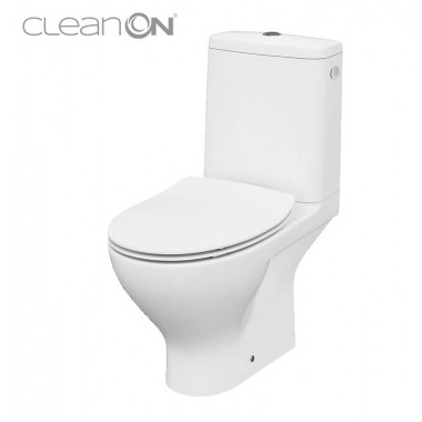 Унитаз-компакт Cersanit Moduo CleanOn 43 010 K116-029 с сиденьем Slim Soft Close дюропласт