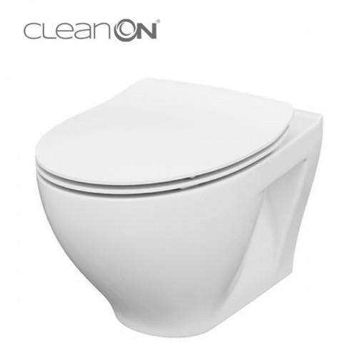 Унитаз подвесной Cersanit Moduo CleanOn K701-147 с сиденьем Slim Soft Close дюропласт