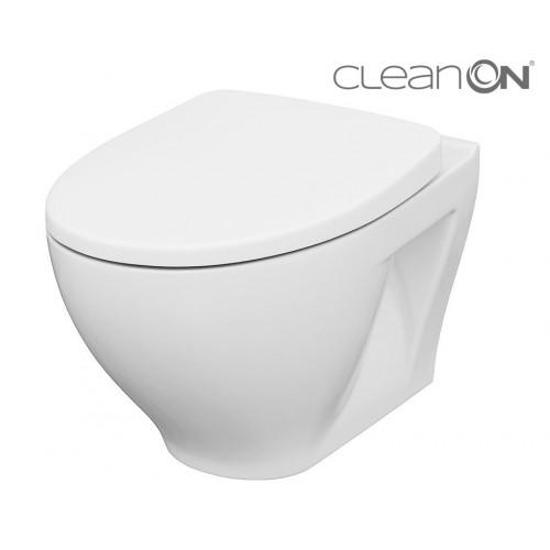 Унитаз подвесной Cersanit Moduo CleanOn K701-262 с сиденьем Slim Wrap Soft Close дюропласт