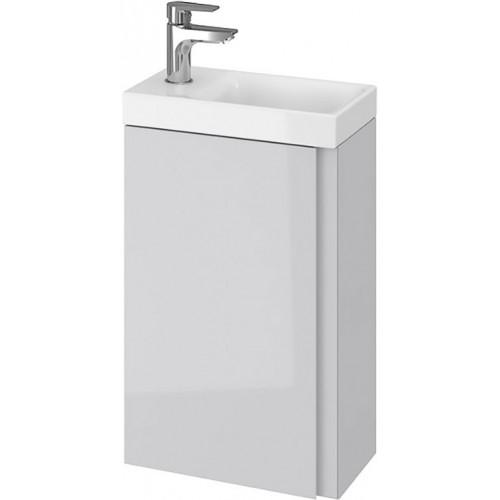 Тумба + Раковина Cersanit MODUO 40 S801-217 (Мебельный СЕТ B09) серый