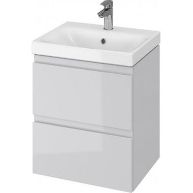Тумба + Раковина Cersanit MODUO 50 S801-219 (Мебельный СЕТ B11) серый
