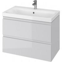 Тумба + Раковина Cersanit MODUO 80 S801-220 (Мебельный СЕТ B15) серый