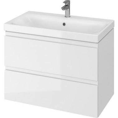 Тумба + Раковина Cersanit MODUO 80 S801-221 (Мебельный СЕТ B14) белый