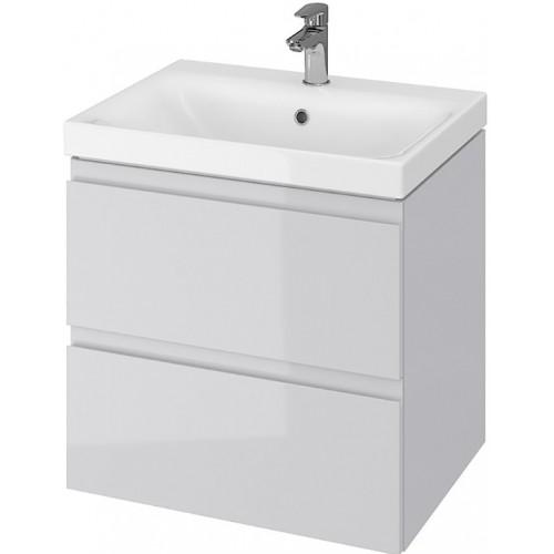 Тумба + Раковина Cersanit MODUO 60 S801-222 (Мебельный СЕТ B13) серый