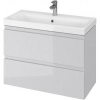 Тумба + Раковина Cersanit MODUO Slim 80 S801-224 (Мебельный СЕТ B07) серый