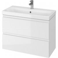 Тумба + Раковина Cersanit MODUO Slim 80 S801-225 (Мебельный СЕТ B06) белый