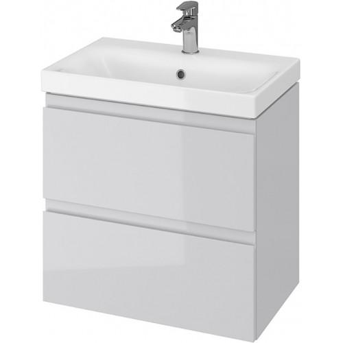 Тумба + Раковина Cersanit MODUO Slim 60 S801-226 (Мебельный СЕТ B05) серый