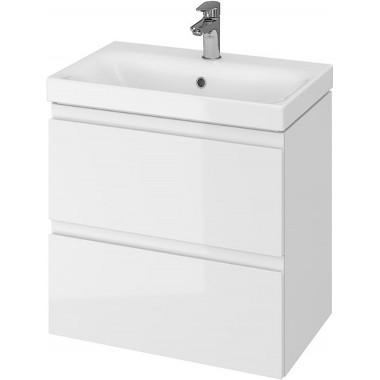 Тумба + Раковина Cersanit MODUO Slim 60 S801-227 (Мебельный СЕТ B04) белый