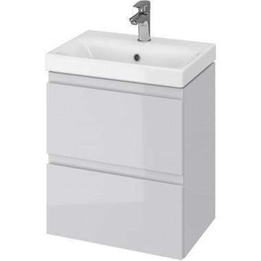 Тумба + Раковина Cersanit MODUO Slim 50 S801-228 (Мебельный СЕТ B03) серый