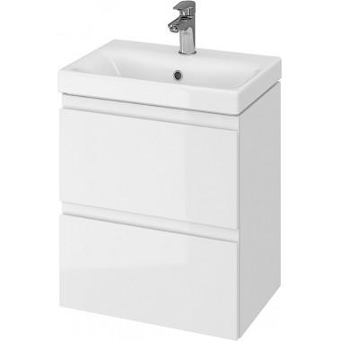 Тумба + Раковина Cersanit MODUO Slim 50 S801-229 (Мебельный СЕТ B02) белый