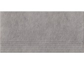 Плитка напольная Opoczno Dry river серый ступень 29,55x59,4