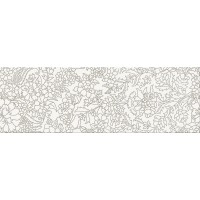 декор Opoczno Pret a Porter white Inserto Flower 25X75