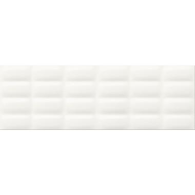 Плитка настенная Opoczno Vivid Colours white glossy pillow 25X75