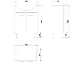 Комплект: тумба Cersanit Alpina + раковина Cersanit Libra 60 см S801-042