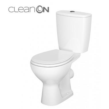 Унитаз-компакт Cersanit Arteco Clean On 010 с сиденьем из полипропилена, Soft-Close