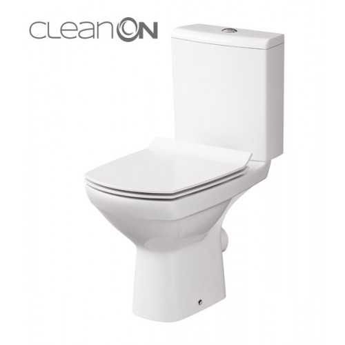 Унитаз-компакт Carina Clean On 11 с сиденьем soft-close Slim