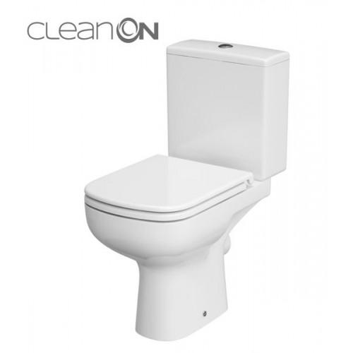 Унитаз-компакт Cersanit Colour New Clean On 011, 3/5 л, + сиденье Duroplast, soft-close белое