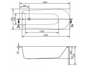Ванна Cersanit Flavia 170 x 70 прямоугольная S301-107