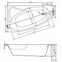 Ванна Cersanit Sicilia 170 x 100 асимметричная, левая S301-097