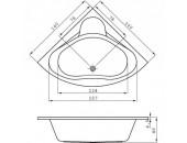 Ванна Cersanit Venus 140 X 140 симметричная S301-038