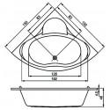 Ванна Cersanit Venus 150 X 150 симметричная S301-013