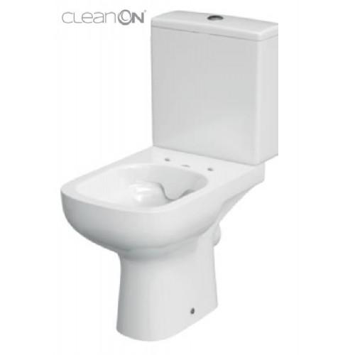 Унитаз-компакт Cersanit Colour Clean On 011, 3/5 л, + сиденье Duroplast, soft-close белое