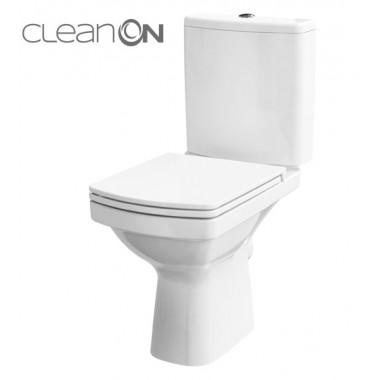 Унитаз-компакт Cersanit Easy Clean On 010 без ободка сиденье Duroplast, soft-close K102-028