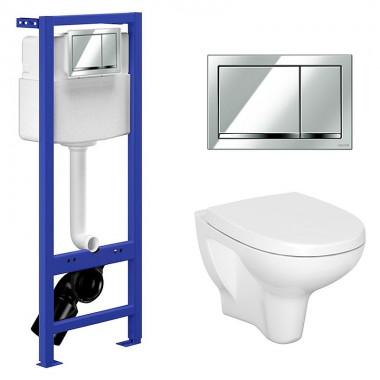 Комплект: Инсталляционная система Cersanit Hi-Tec с кнопкой, подвесным унитазом Arteco и сиденьем SoftClose