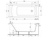 Ванна Cersanit Korat 150 x 70 прямоугольная 01005