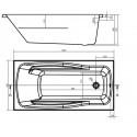 Ванна Cersanit Lana 140 x 70 прямоугольная S301-160
